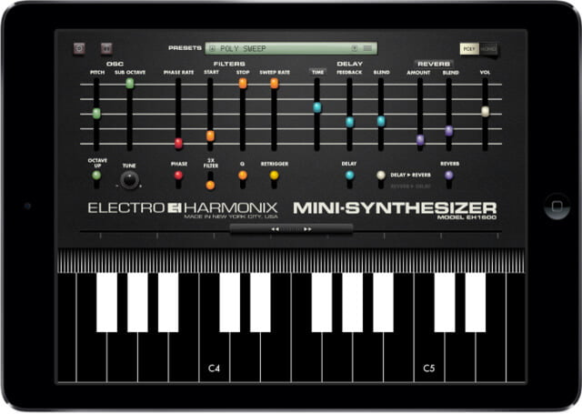 Electro-Harmonix MINI-SYNTHESIZER app