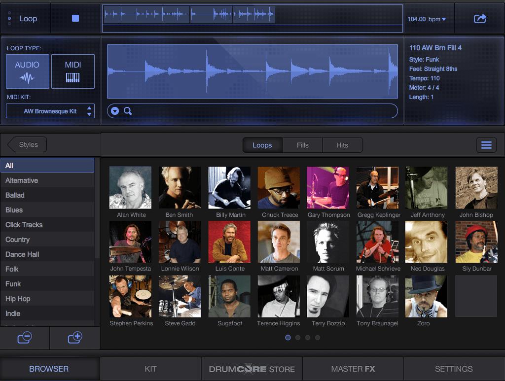 Sonoma Wire Works DrumCore 4 Browser