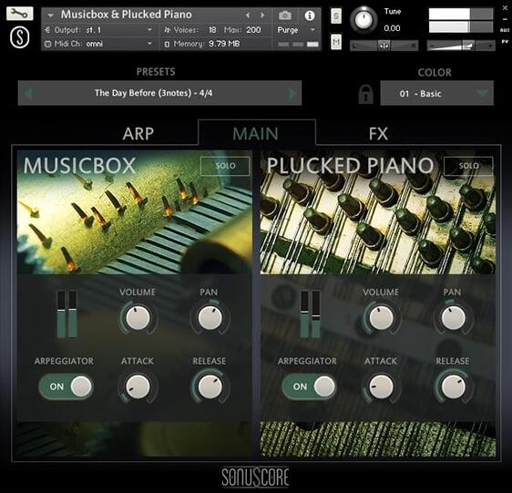 Sonuscore Music Box & Plucked Piano