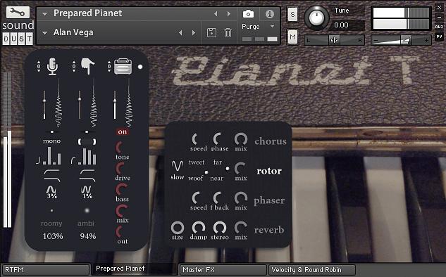 Sound Dust Prepared Pianet
