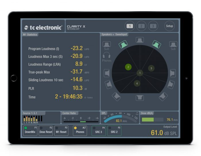 TC Electronic Clarity X Metering App config 3