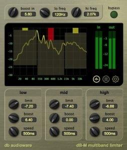 db audioware dB-M Multiband Limiter v2