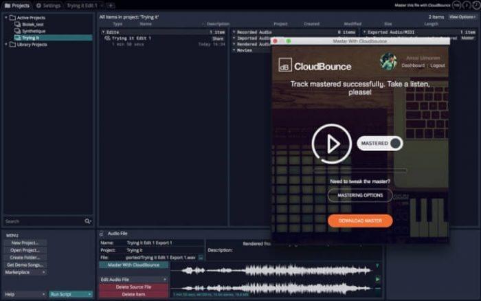 CloudBounce Tracktion T7 integration