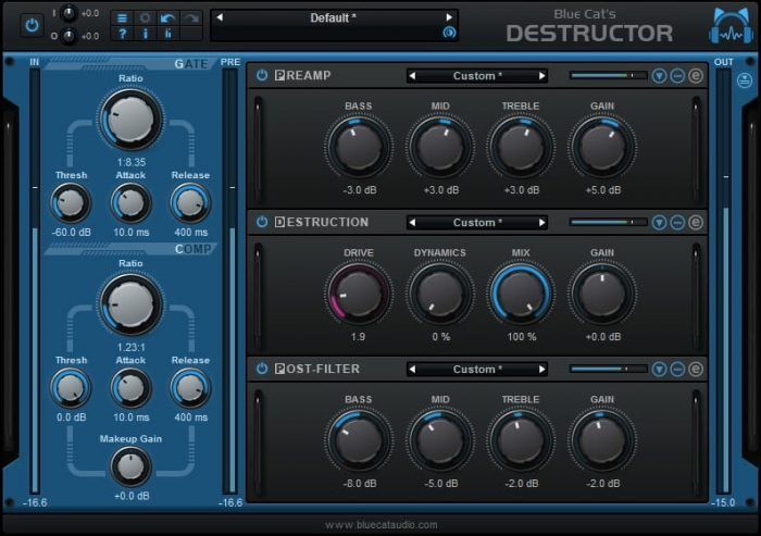 Blue Cat's Destructor main