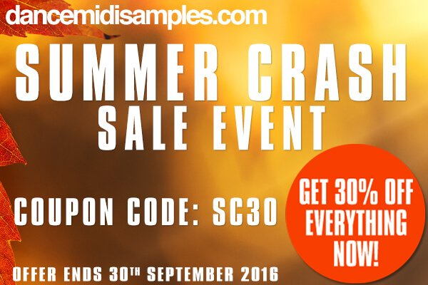 Dance Midi Samples Summer Crash Sale Event