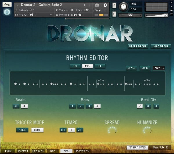 Gothic Instruments Dronar Guitarscapes master SEQ