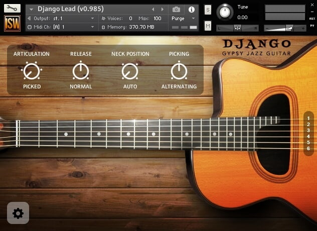 Impact Soundworks Django Gypsy Jazz Guitar