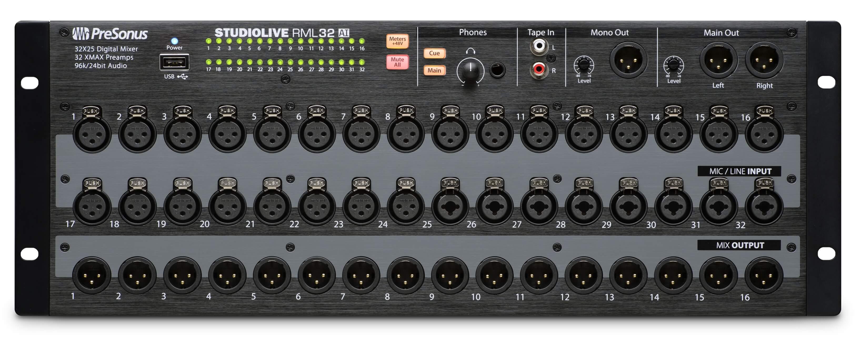 Presonus Studiolive Rml16ai Rml32ai Mixers Shipping