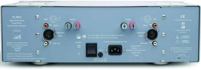 ATC P2 PRO Dual Mono Power Amplifier rear