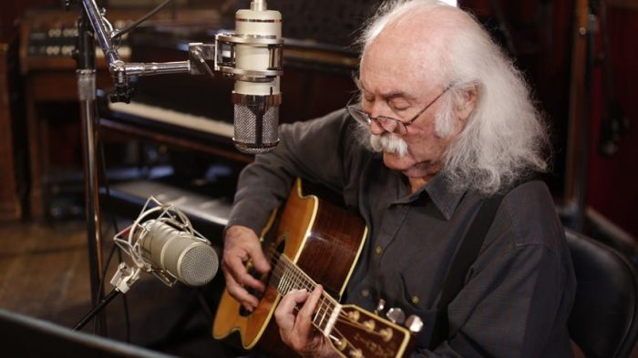 David Crosby with Lauten Audio's Eden mic on vocals