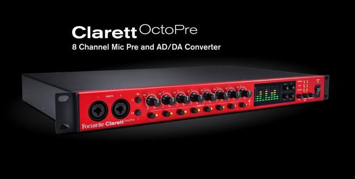 Focusrite Clarett OctoPre wide