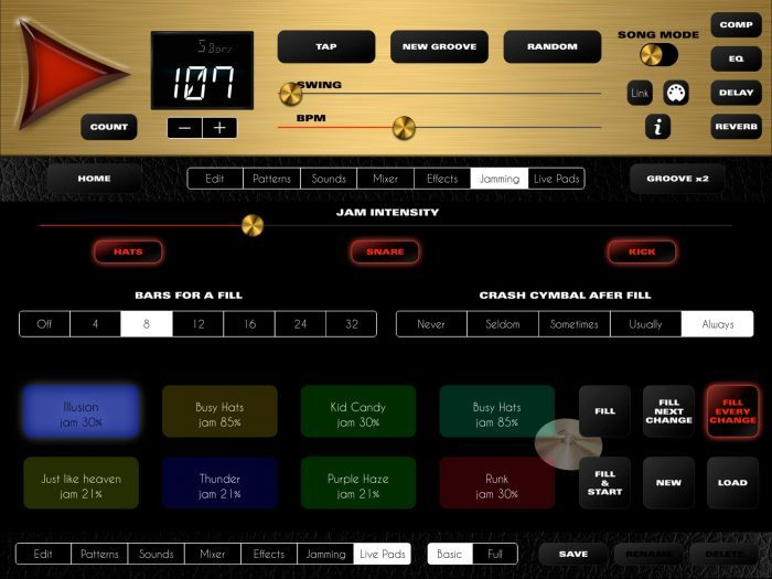 LumBeat Rock Drum Machine 4 screen