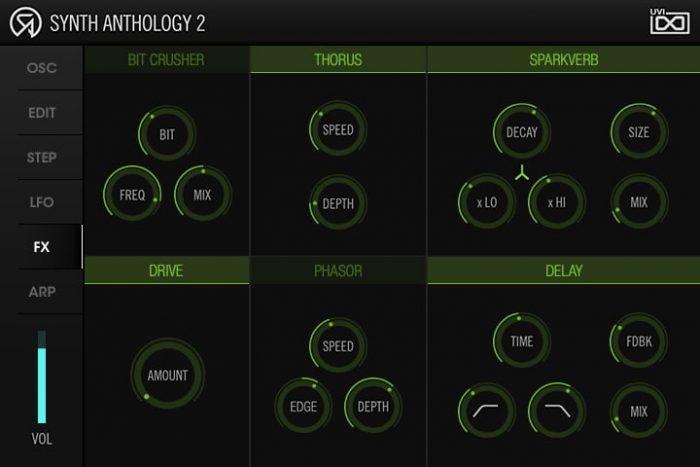 UVI Synth Anthology 2 fx