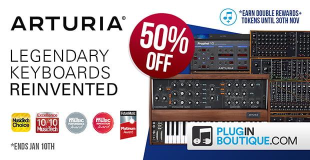 50% off Arturia instruments
