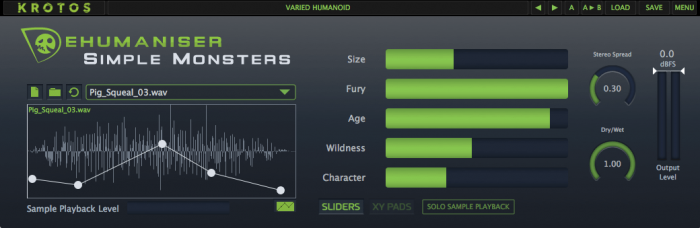 Dehumaniser Simple Monsters screen