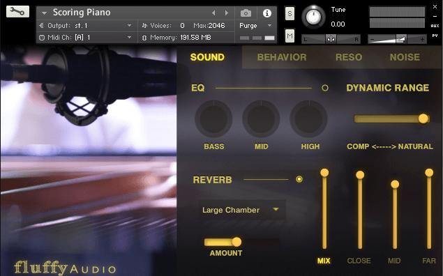 Fluffy Audio Scoring Piano