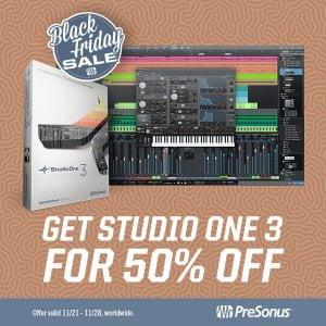 PreSonus Studio One Black Friday