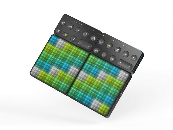 ROLI Lightpad Blocks connected to Live Block and Loop Block