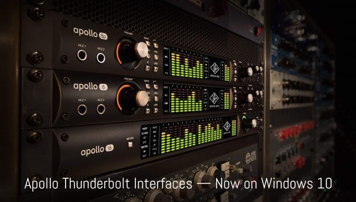 Universal Audio Apollo Thunderbolt Windows 10
