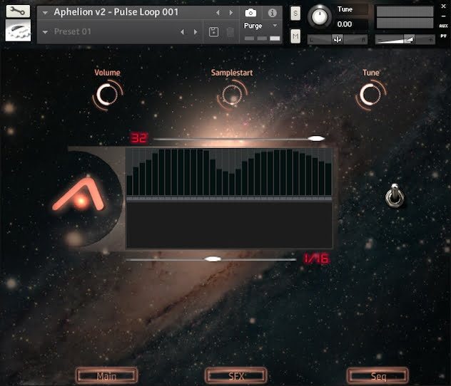 Particular Sound Aphelion Cinematic Loops 2.0 sequencer