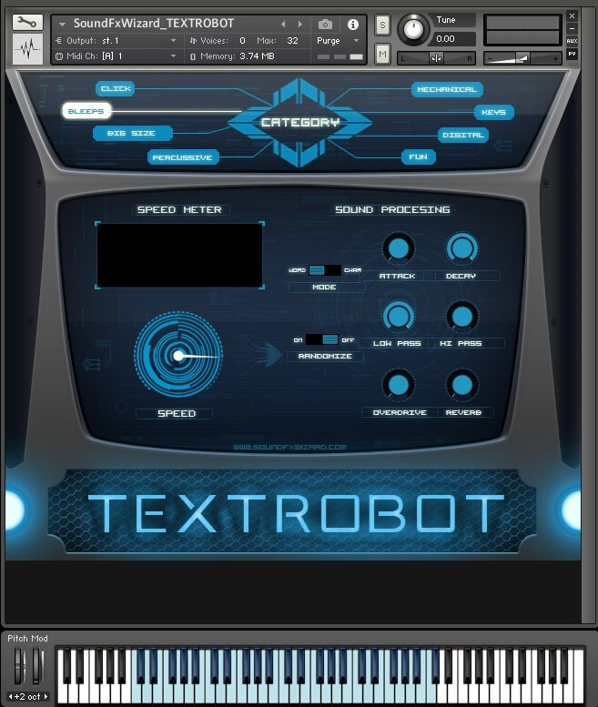 SoundFxWizard Textrobot