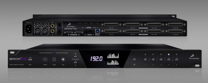 Antelope Audio Orion32 HD front back