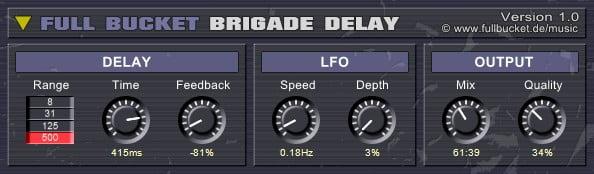 Full Bucket Brigade Delay
