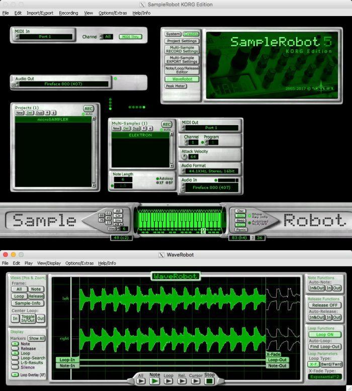 SampleRobot KORG Edition and WaveRobot