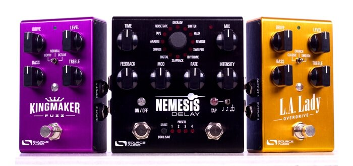 Source Audio Kingmaker Fuzz, Nemesis Delay & L.A. Lady Overdrive