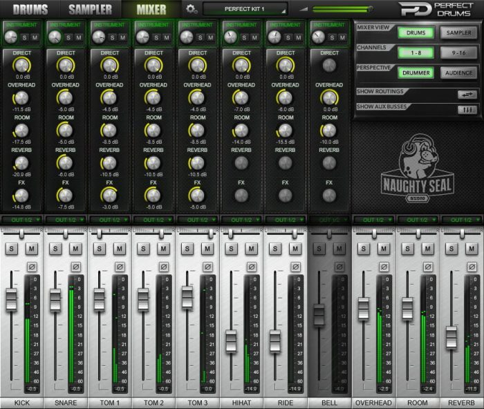 Naughty Seal Audio Perfect Drums mixer