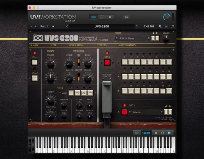 UVI UVS 3200 synth