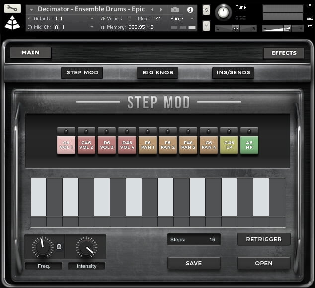Audio Imperia Decimator Drums step mod