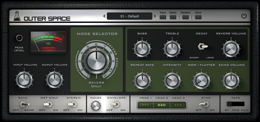 AudioThing Outer Space tape echo/reverb plugin released