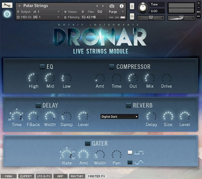 DRONAR Live Strings Master FX