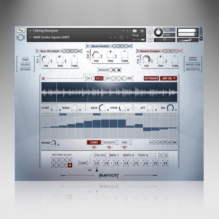 Heavyocity NOVO Modern Strings screen cycle