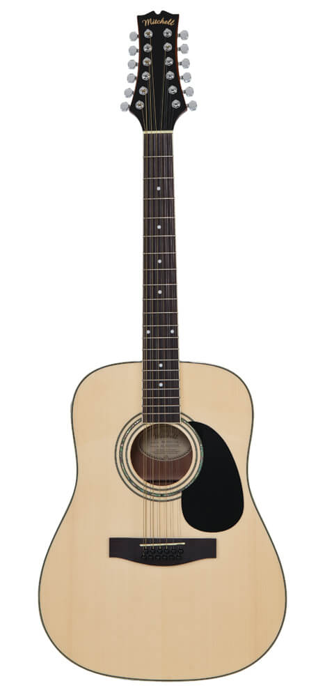 Mitchell D120S12E Dreadnought 12-String Acoustic-Electric Guitar