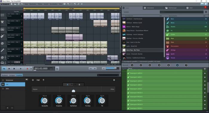 MusicMaker FreeVersion GUI Overview