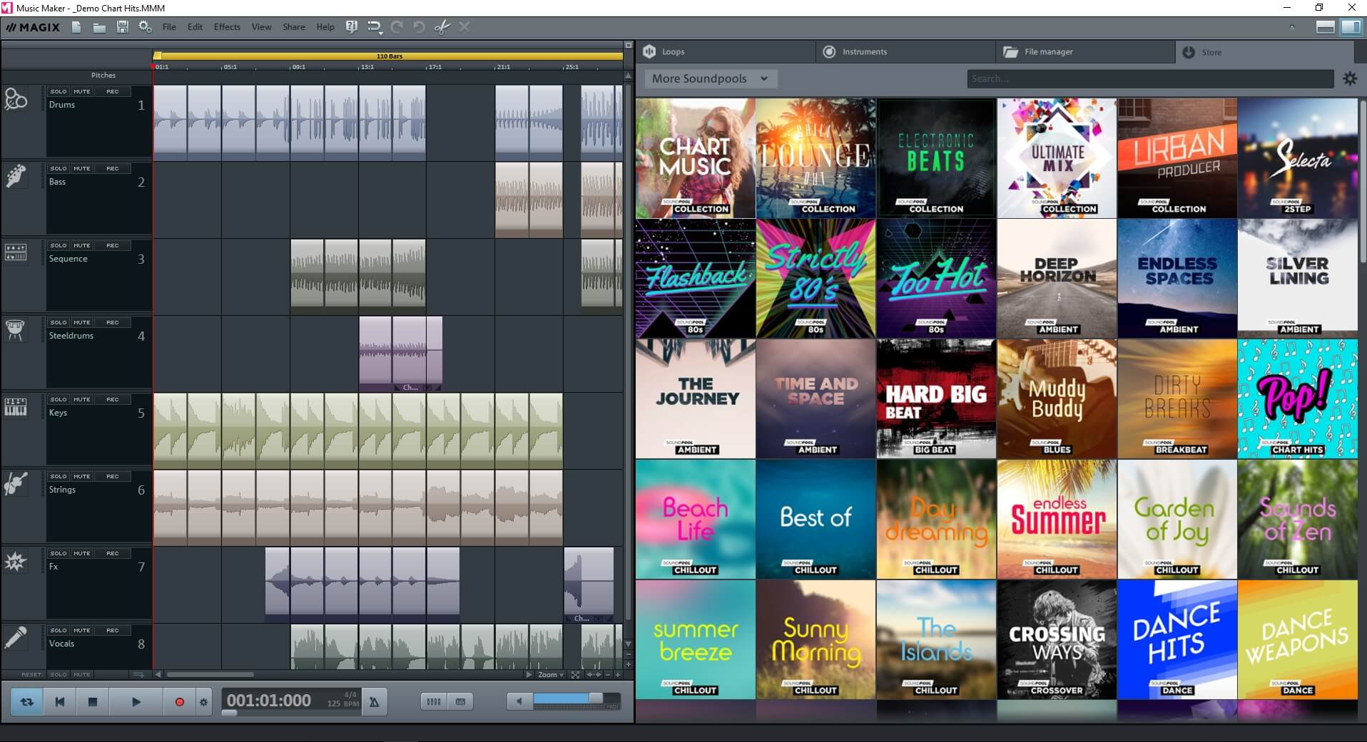 how to use magix music maker 2017