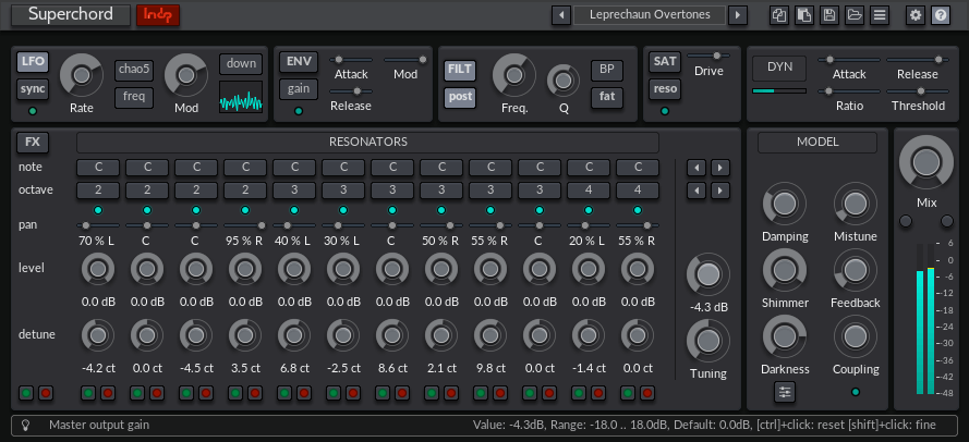 lmdsp Superchord black rack