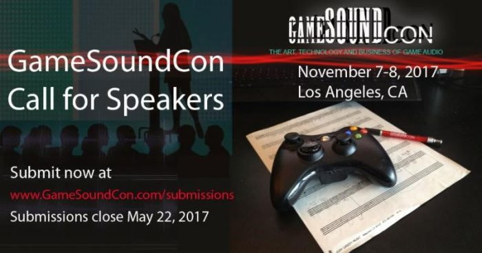 GameSoundCon Call for Speakers