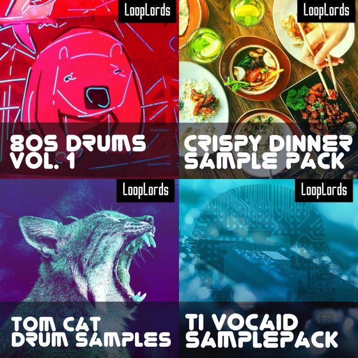 LoopLords 80s Drums, Crispy Dinner, Tom Cat & TI Vocaid