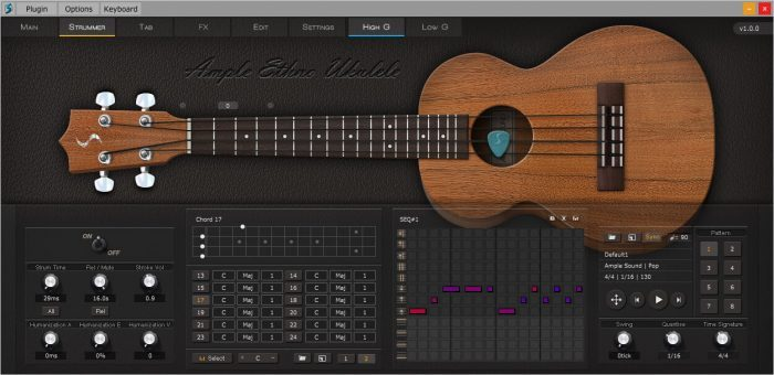 Ample Sound Ample Ethno Ukulele sequencer