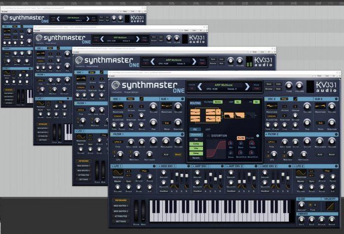 KV331 Audio SynthMaster One scaled UI
