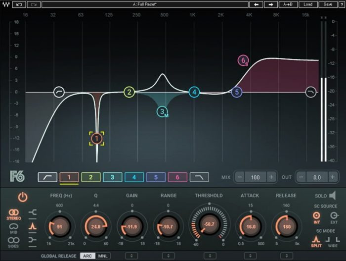 Waves F6 Floating Band Dynamic EQ