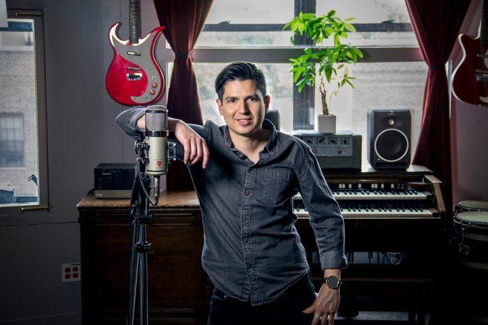 Daniel Sanint at Flux Studios with Lauten Audio Eden LT 386