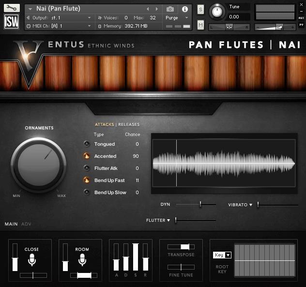 Impact Soundworks Ventus Ethnic Winds Pan Flutes