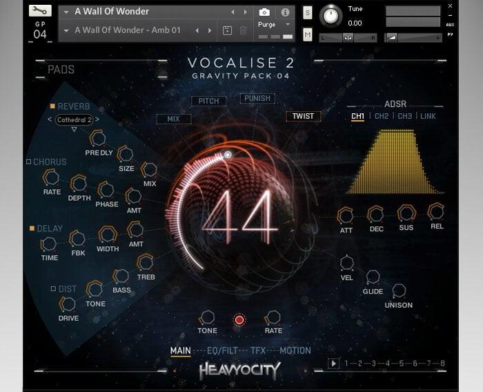 Heavyocity Vocalise 2 screen