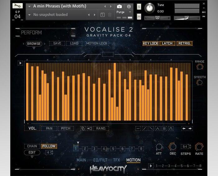 Heavyocity Vocalise 2 screen motion
