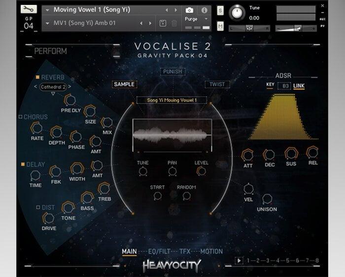 Heavyocity Vocalise 2 screen sample