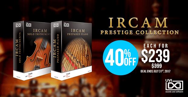 IRCAM Prestige Collection sale
